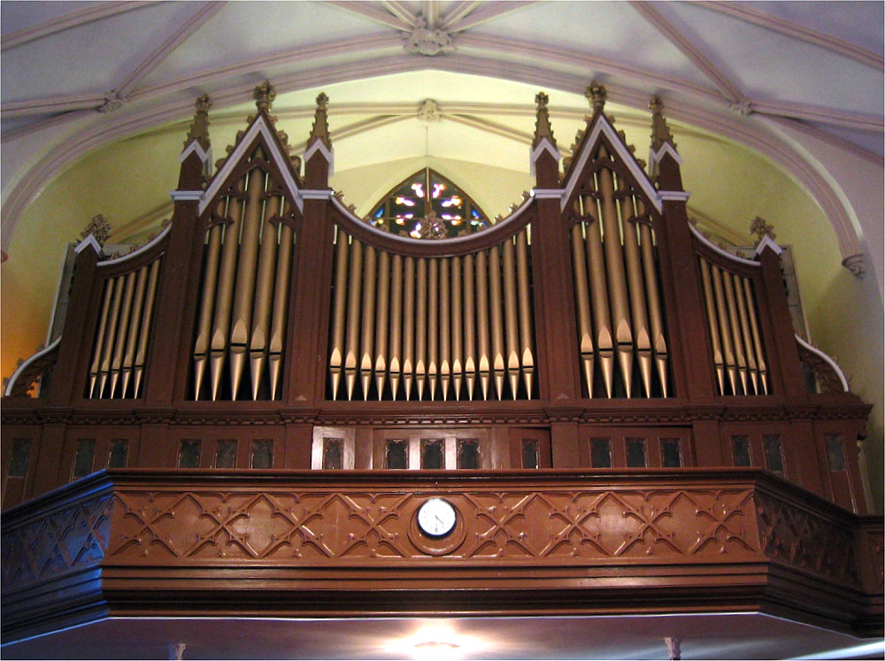 Jardine & Son Organ Case (1871) at Metropolitan Community United Methodist Church - New York City (Photo: Steven Lawson)