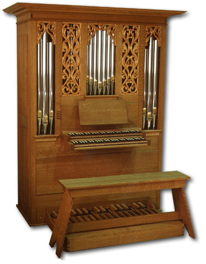 The Noack Practice Organ (Photo: Noack Organ Company)