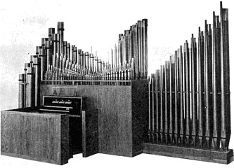 Delaware Organ (c.1964) in the Lower Church of Our Lady of Rosary Catholic Church - New York City