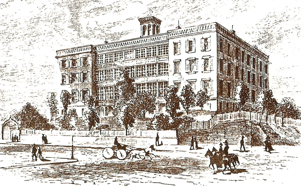 Roman Catholic Orphan Asylum on Fifth Avenue at 51st Street (1846-1902) - New York City