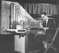 Richard Connelly, tour organist, at the Schlicker Organ (1960) for the Robert Shaw Chorale