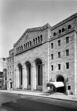 Congregation Rodeph Sholom - New York City (photo: Wurts Bros., 1930)