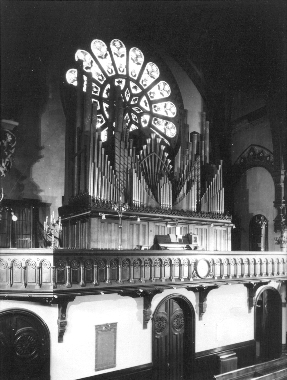 George Jardine & Son Organ (c.1875) in Temple Rodeph Sholom - New York City (Rodeph Sholom Archives)