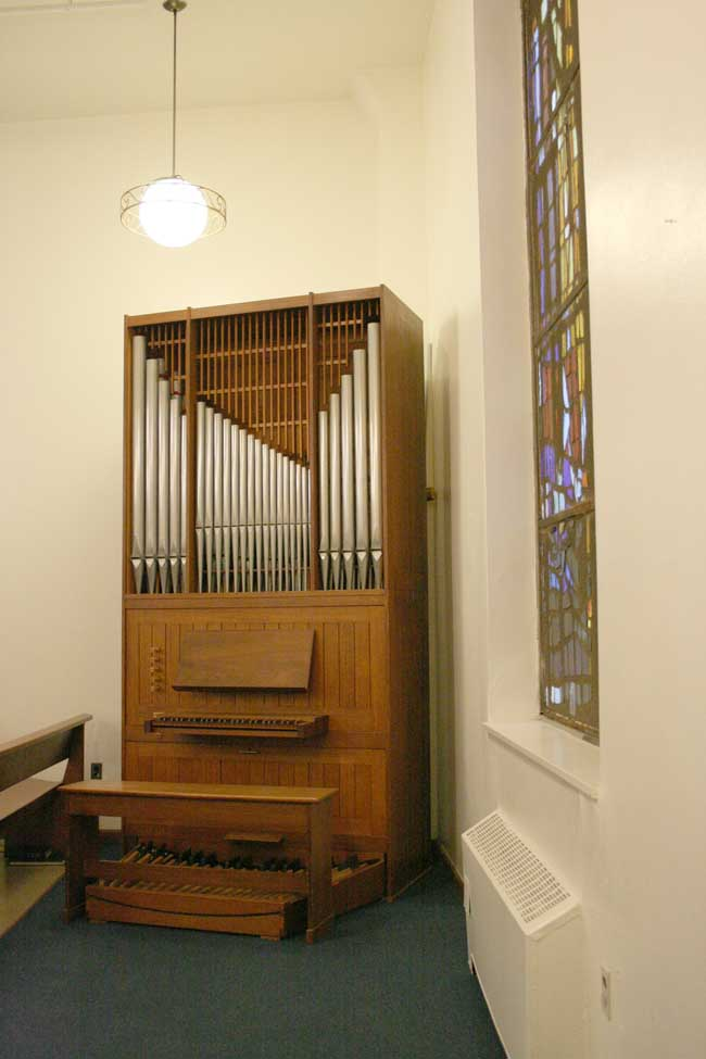 Noack Organ, Op. 38 (1967) in Nordgren Chapel of the Seafarers and International House - New York City (Photo: Steven E. Lawson)
