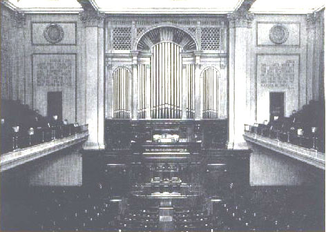 Facade of J.H. & C.S. Odell Organ, Op. 369 (1899) at the Second Church of Christ, Scientist - New York City