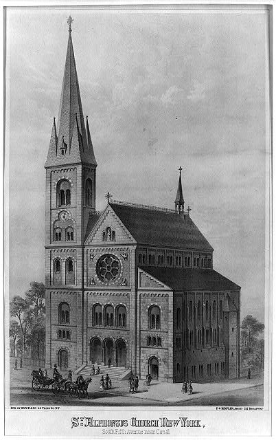Church of St. Alphonsus Liguori - New York City (from old postcard)
