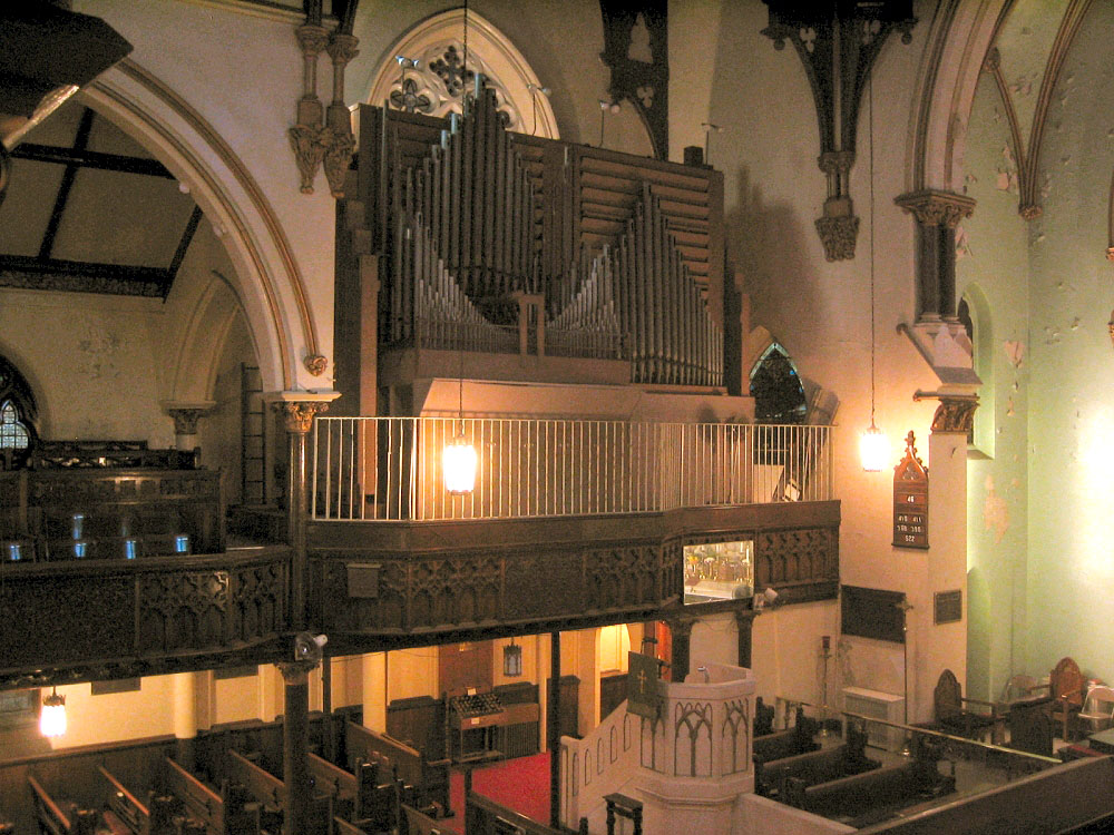 Austin Organ, Op. 2355 (1961) at St. Ambrose Episcopal Church - New York City (Photo: Steven Lawson)