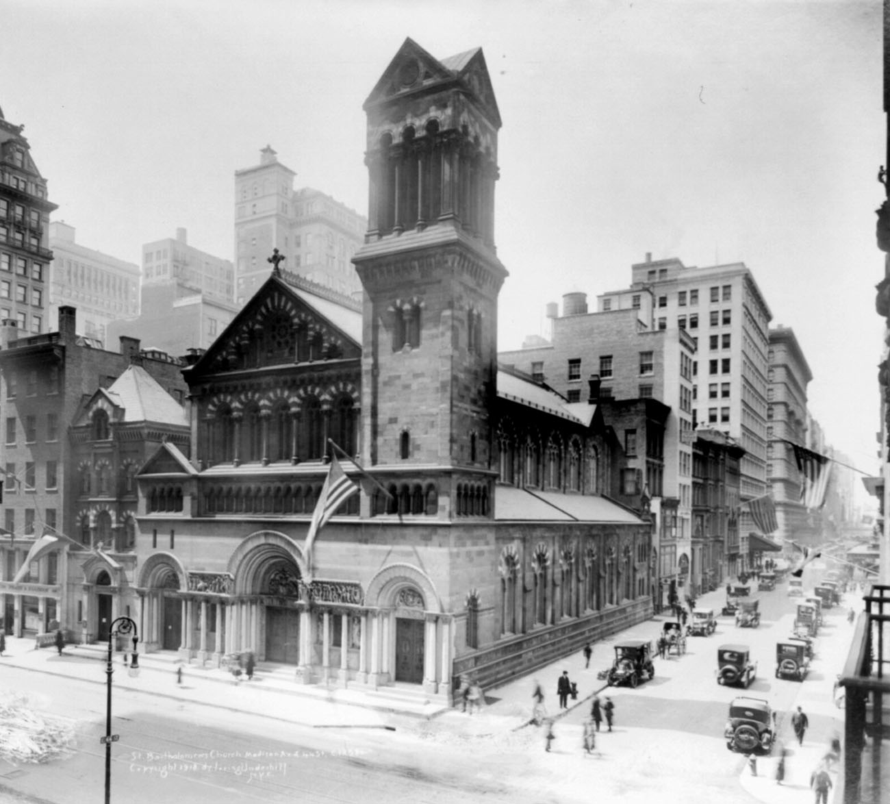 St. Bartholomew's Episcopal Church, located from 1872-1918 on Madison Avenue and 44th Street - New York City