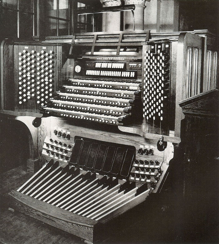 1953 Console of Aeolian-Skinner Organ, Op. 275-E/F (1970-71) at St. Bartholomew's Church - New York City (photo: The American Organist)