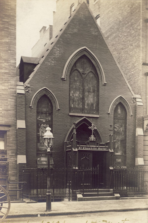 Undated postcard of Episcopal Church of St. Edward the Martyr - New York City (Episcopal Diocese of New York Archives)