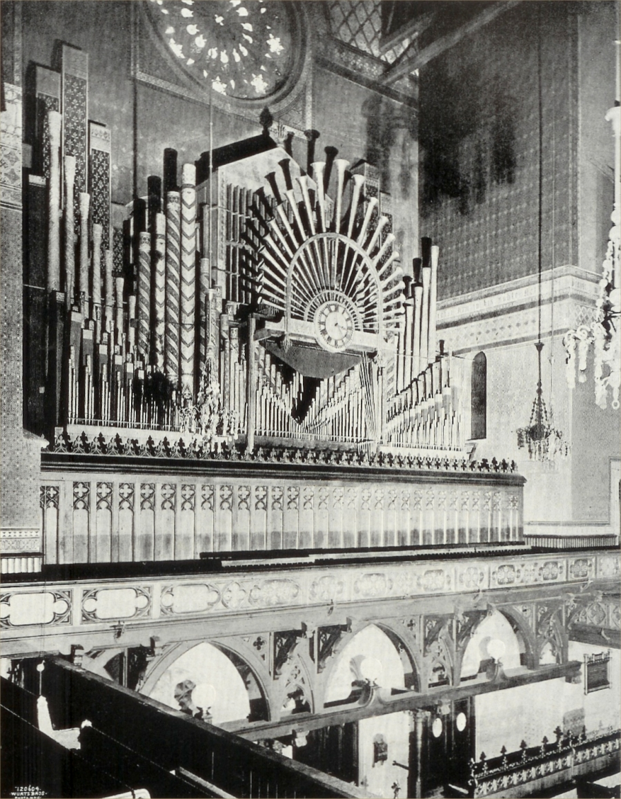 Jardine & Son Organ (1869) in Gallery of St. George's Church - New York City