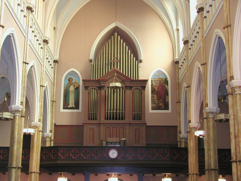 Organ Case at St. John the Baptist Catholic Church - New York City (credit: Steven E. Lawson)