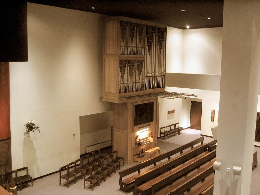 Helmuth Wolff & Associés Organ, Op. 14 (1974) at St. John the Evangelist Catholic Church - New York City (Photo: Steven E. Lawson)
