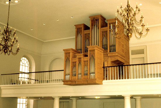 Casavant Organ, Op. 3550 (1986) at Church of St. Luke-in-the-Fields - New York City (Photo: Casavant Frères, Limitée)