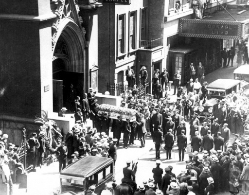 "Rudolph Valentino's Funeral at St. Malachy's Catholic Church (""The Actors' Chapel"") - New York City"