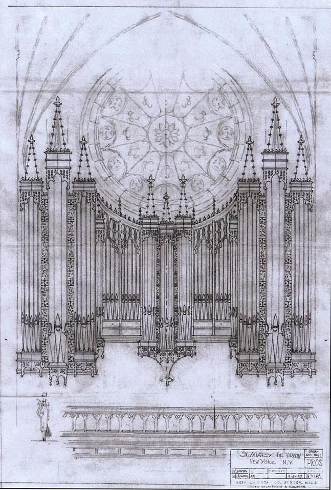 Proposed case of Aeolian-Skinner Organ, Op. 891 (1932) in St. Mary the Virgin - New York City