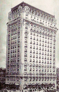 Old view of the St. Regis Hotel - New York City