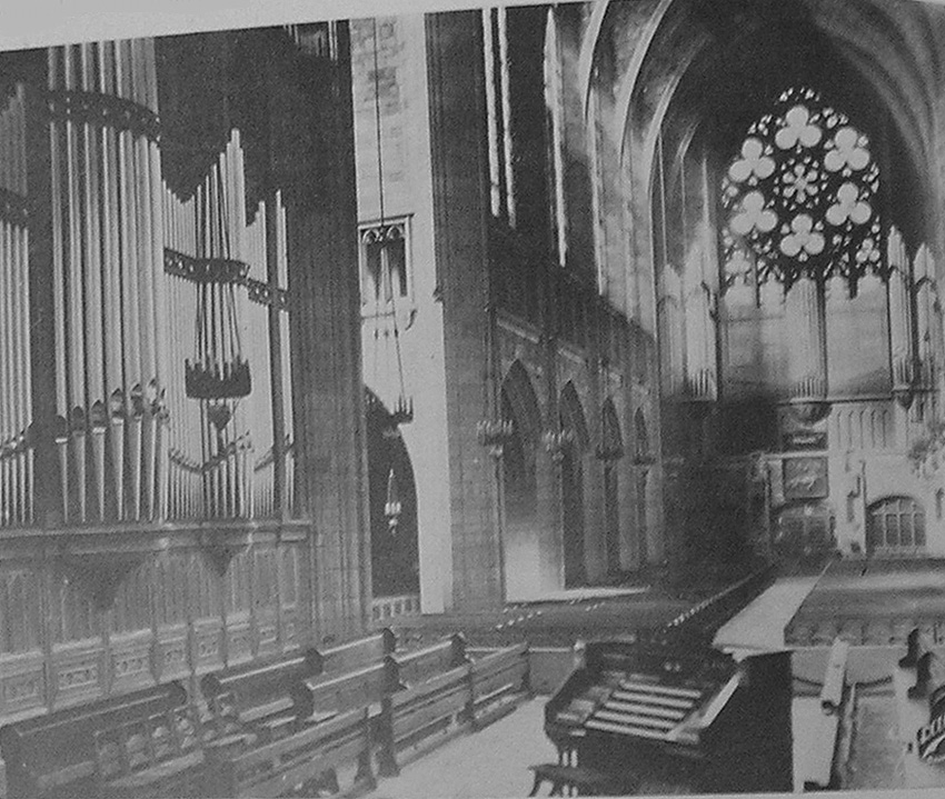 Fratelli Balbiani Organ (1925) formerly in St. Vincent Ferrer Catholic Church - New York City (photo: The American Organist, May 1926)