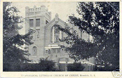 1923 postcard of Evangelical Lutheran Church of Christ - Rosedale (Queens), NY