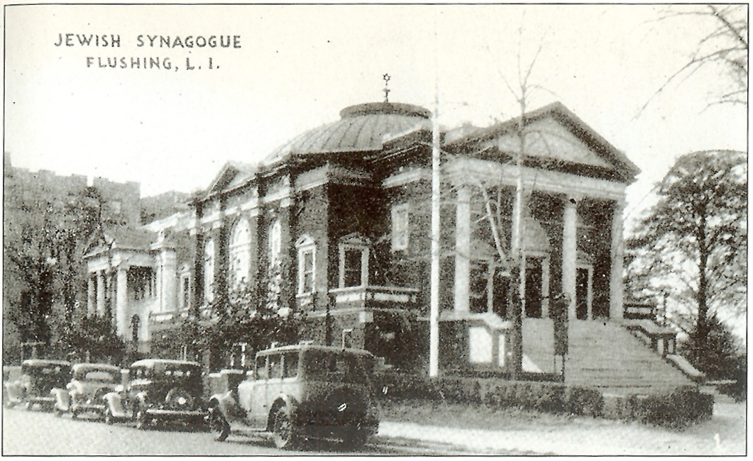 Undated postcard of the Free Synagogue of Flushing - Flushing, N.Y.