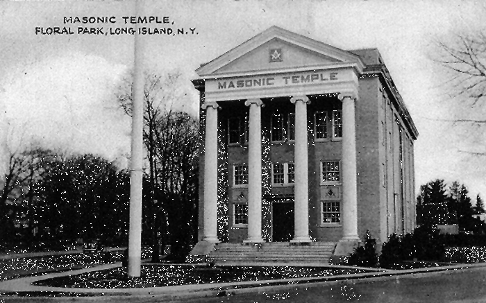 Undated Postcard of Masonic Temple - Florial Park, N.Y.