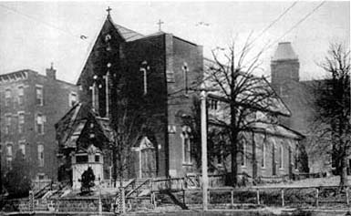 1871 building of Our Lady of Mount Carmel Catholic Church - Astoria (Queens), NY