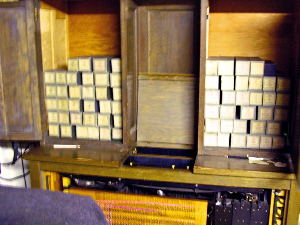 Assortment of automatic player rolls for the organ in Keith Bigger Residence - Cambria Heights (Queens), N.Y.
