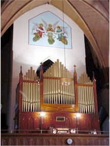 Organ case at St. Mary's Catholic Church - Long Island City, NY