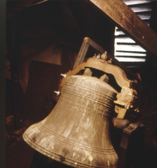 1864 bell cast by Meneely Bell Co. of Troy, N.Y. for the Reformed Dutch Church of Tompkinsville, Staten Island (photo: Roland Ratmeyer)
