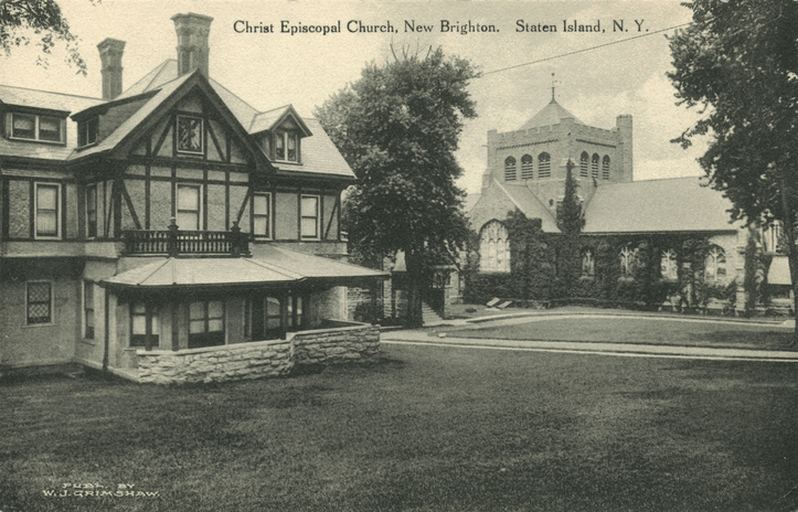 Christ Church New Brighton (Episcopal) - Staten Island, NY (vintage postcard)