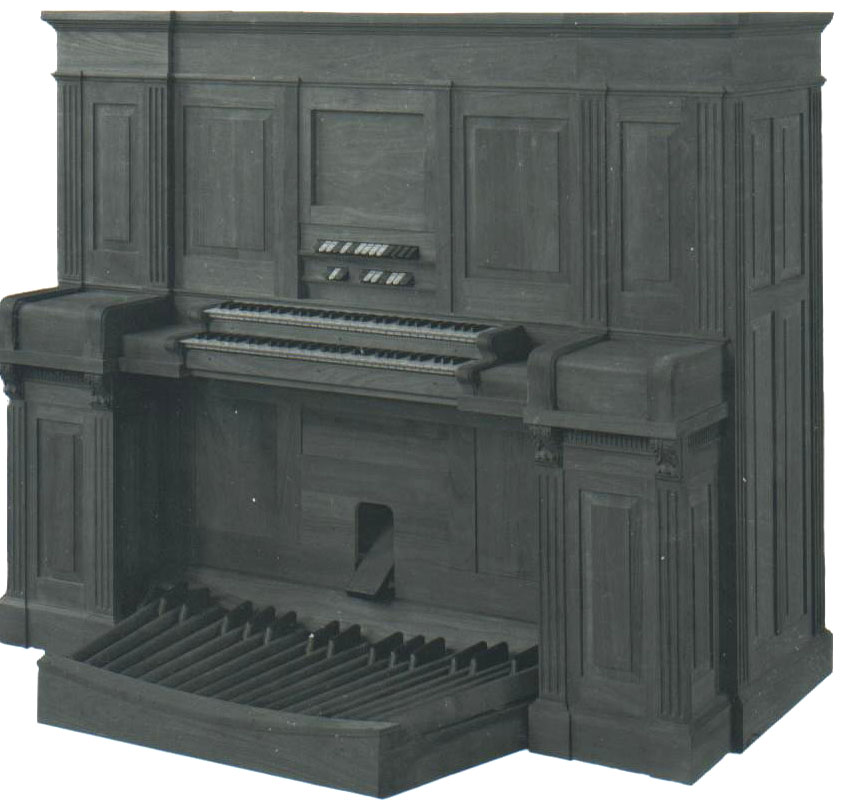 Upright Minuette organ built by the Estey Organ Company, Brattleboro, VT