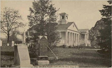 Undated postcard of New Dorp Moravian Church - Staten Island, NY